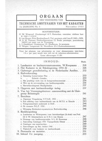 Orgaan der Vereeniging TAK 1953-11-01