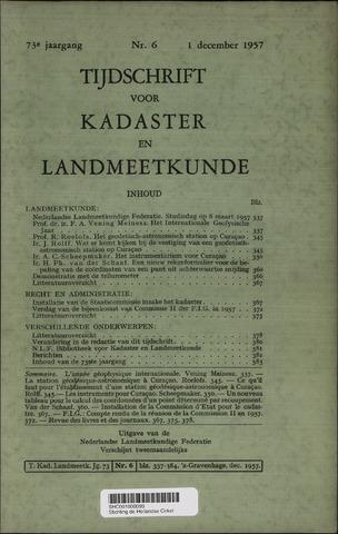 Tijdschrift voor Kadaster en Landmeetkunde (KenL) 1957-12-01