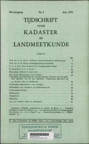 Tijdschrift voor Kadaster en Landmeetkunde (KenL) 1970-02-01