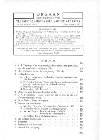 Orgaan der Vereeniging TAK 1955-11-01