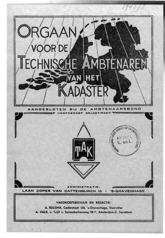 Orgaan der Vereeniging TAK 1942-10-01