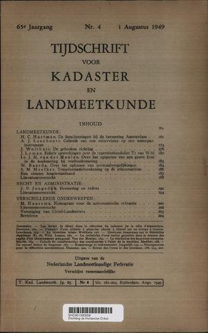 Tijdschrift voor Kadaster en Landmeetkunde (KenL) 1949-08-01