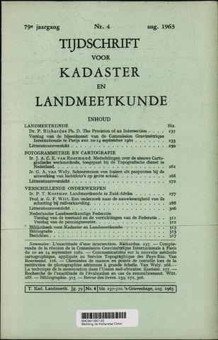 Tijdschrift voor Kadaster en Landmeetkunde (KenL) 1963-08-01