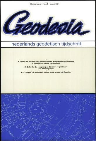 (NGT) Geodesia 1981-03-01