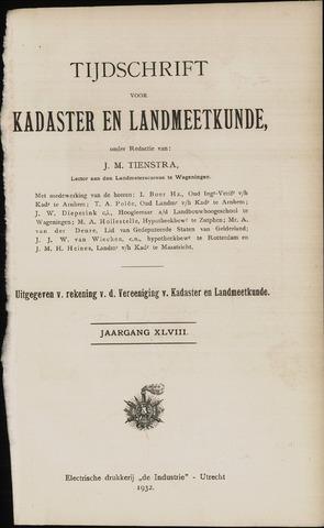 Tijdschrift voor Kadaster en Landmeetkunde (KenL) 1932