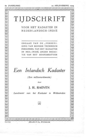 Tijdschrift voor het Kadaster in Ned.-Indië 1924-01-01