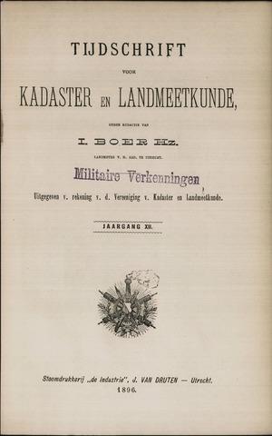 Tijdschrift voor Kadaster en Landmeetkunde (KenL) 1896