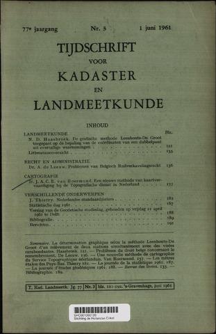 Tijdschrift voor Kadaster en Landmeetkunde (KenL) 1961-06-01
