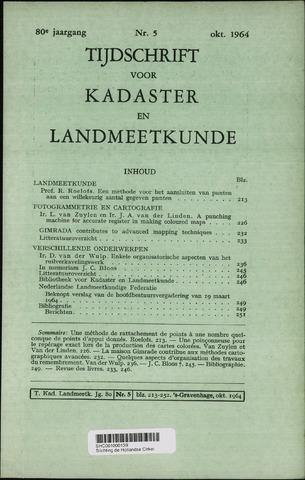 Tijdschrift voor Kadaster en Landmeetkunde (KenL) 1964-10-01