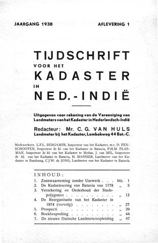 Tijdschrift voor het Kadaster in Ned.-Indië 1938-01-01