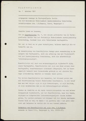 Kaartbulletin 1961-10-01