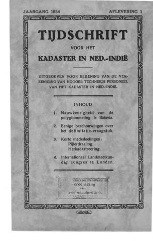 Tijdschrift voor het Kadaster in Ned.-Indië 1934-01-01