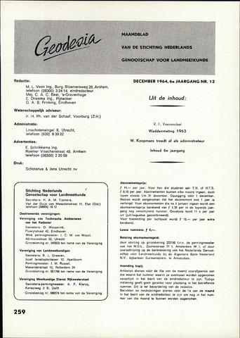 (NGT) Geodesia 1964-12-01