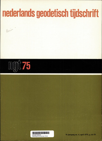 Nederlands Geodetisch Tijdschrift (NGT) 1975-04-01