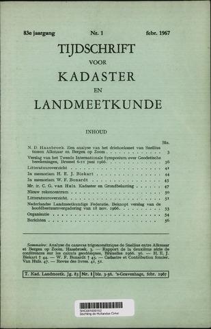 Tijdschrift voor Kadaster en Landmeetkunde (KenL) 1967