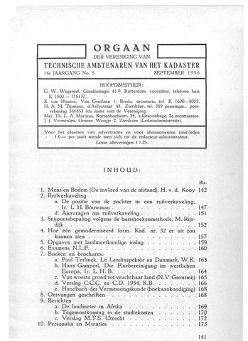 Orgaan der Vereeniging TAK 1956-09-01