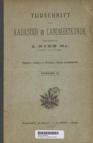 Tijdschrift voor Kadaster en Landmeetkunde (KenL) 1886
