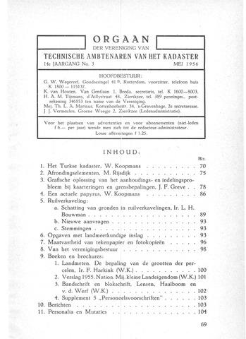 Orgaan der Vereeniging TAK 1956-05-01