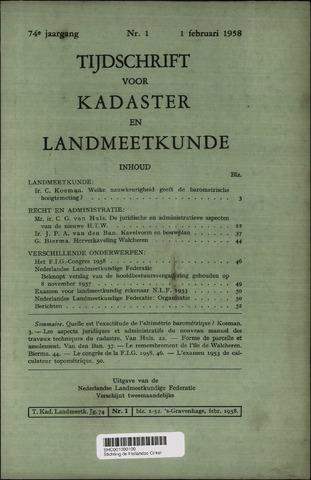 Tijdschrift voor Kadaster en Landmeetkunde (KenL) 1958