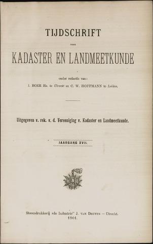 Tijdschrift voor Kadaster en Landmeetkunde (KenL) 1901-01-01