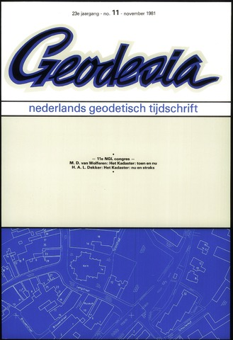 (NGT) Geodesia 1981-11-01