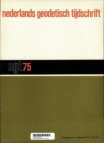 Nederlands Geodetisch Tijdschrift (NGT) 1975-09-01
