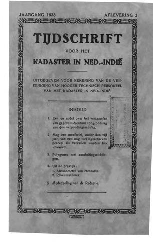 Tijdschrift voor het Kadaster in Ned.-Indië 1933-07-01