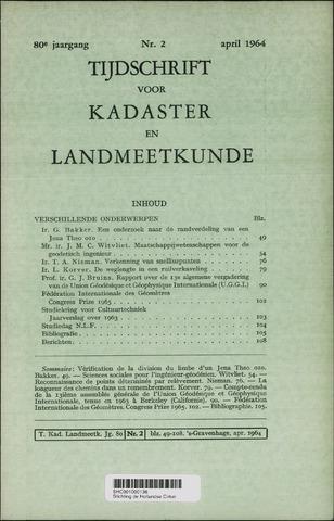 Tijdschrift voor Kadaster en Landmeetkunde (KenL) 1964-04-01