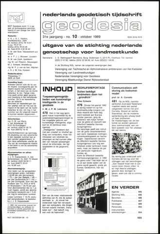 (NGT) Geodesia 1989-10-01