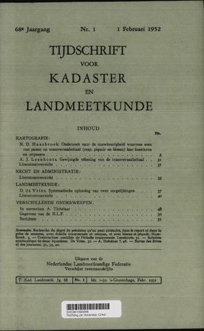 Tijdschrift voor Kadaster en Landmeetkunde (KenL) 1952