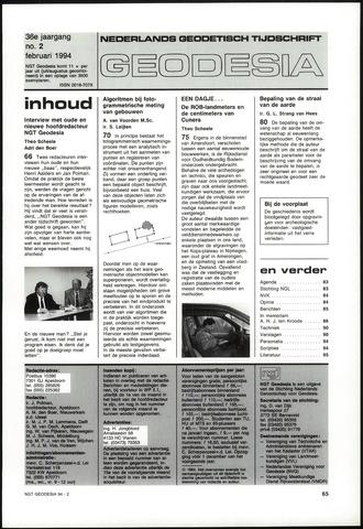 (NGT) Geodesia 1994-02-01