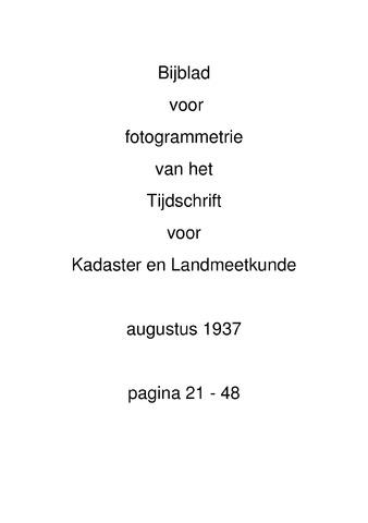 Tijdschrift voor Kadaster en Landmeetkunde (KenL) 1937-08-01
