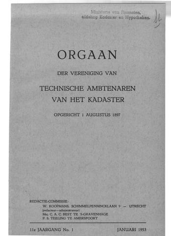 Orgaan der Vereeniging TAK 1953