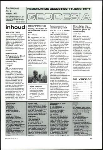 (NGT) Geodesia 1992-03-01