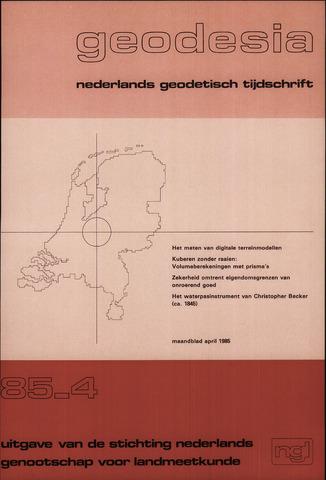 (NGT) Geodesia 1985-04-01
