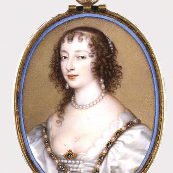 Portretminiatuur van Henrietta Maria