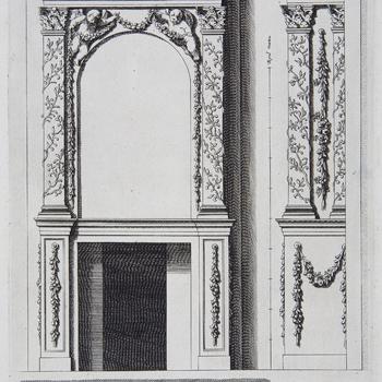 Schoorsteen in Paleis Noordeinde in Den Haag, 1664