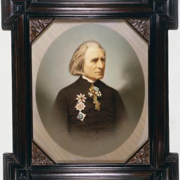 Portret van Franz Liszt (1811-1886), 1873