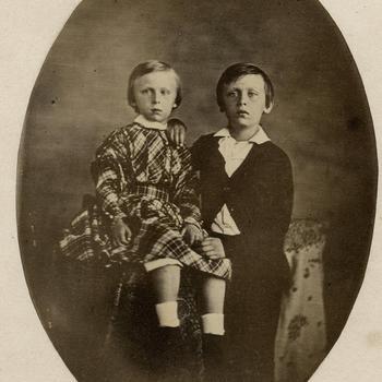 Prins Maurits en prins Willem, circa 1848