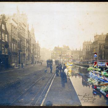 Ontwerp voor een versiering in het Rokin te Amsterdam, januari 1898