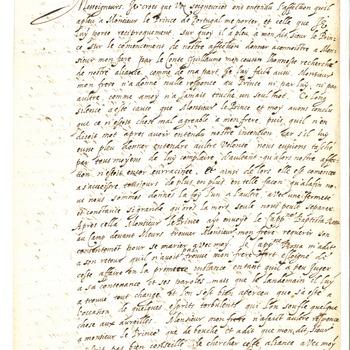 Bericht van het geheime huwelijk tussen Emilia en Emanuel van Portugal, 7 november 1597