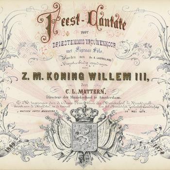 Feest-cantate : voor driestemmig vrouwenkoor met sopraan solo : 1849 - 1874