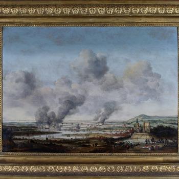 Het verbranden van de Engelse vloot bij Chatham