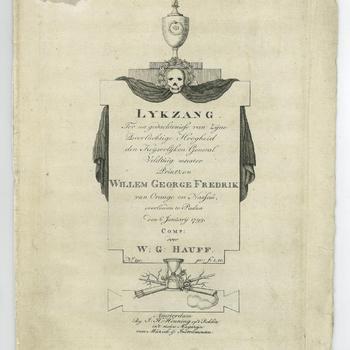Lijkzang bij het overlijden van prins Frederik, 6 januari 1799
