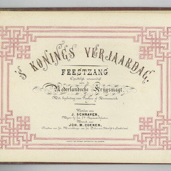 's Konings verjaardag : feestzang