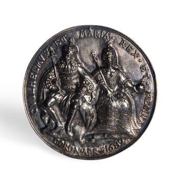 Penning ter ere van de kroning van Willem III en Maria II