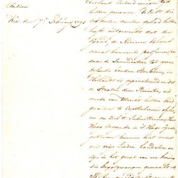 Brief van Willem V vanuit Kew Palace, 7 februari 1795
