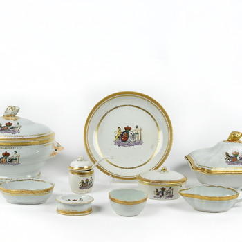 Chine de commande eetservies van Willem V
