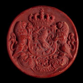 Afdruk van het grootzegel van koningin Beatrix