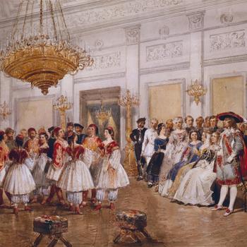Een gekostumeerd bal in Paleis Noordeinde,  14 maart 1862